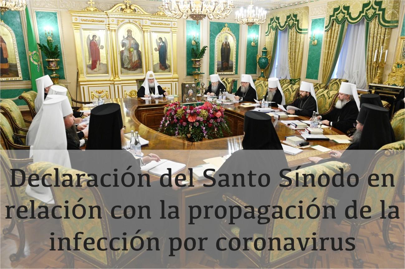 Declaración del Santo Sínodo en relación con la propagación de la infección por coronavirus